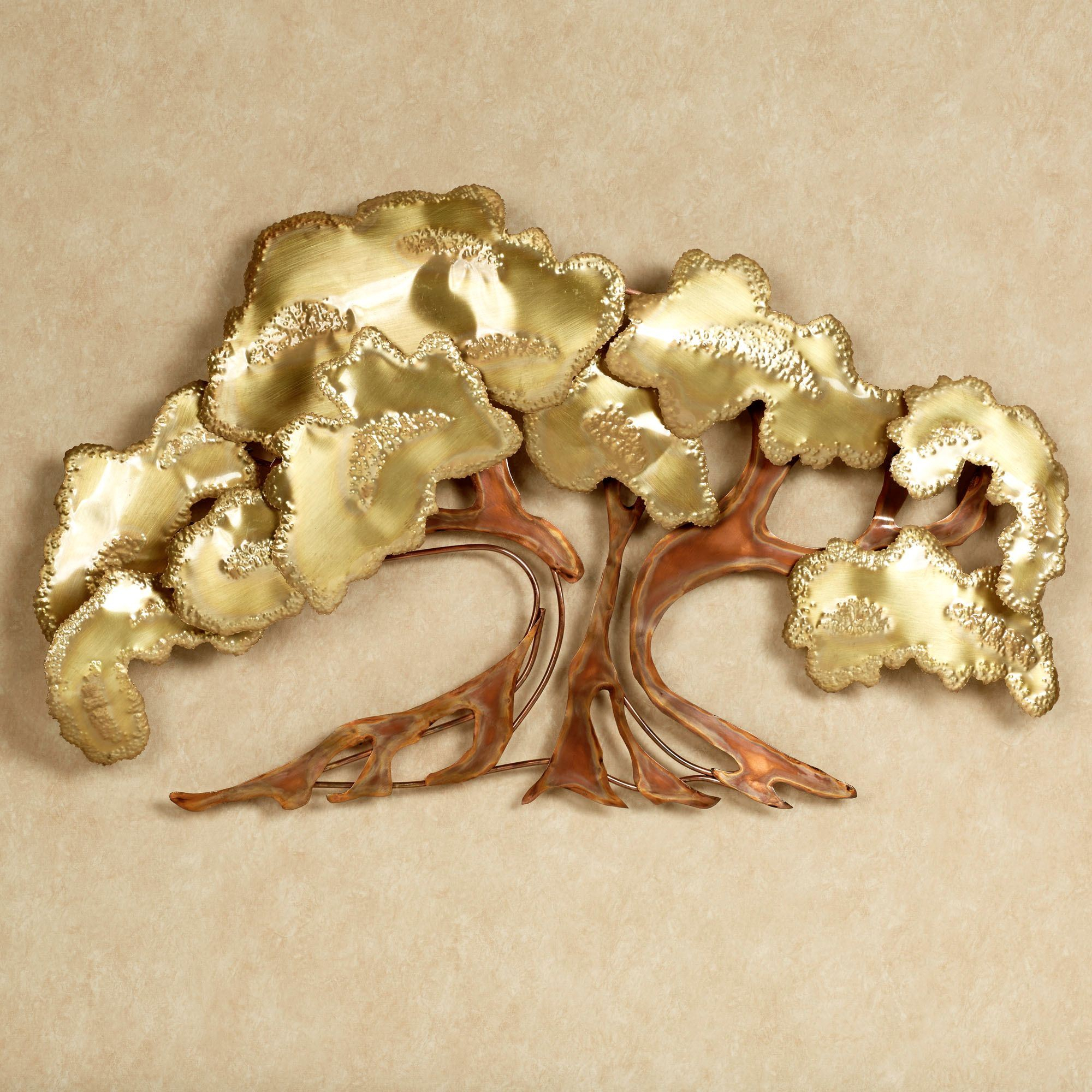 Leaves Metal Sculpture Wall Decor For Best And Newest Zen Tree Metal Wall Sculpture (View 13 of 20)