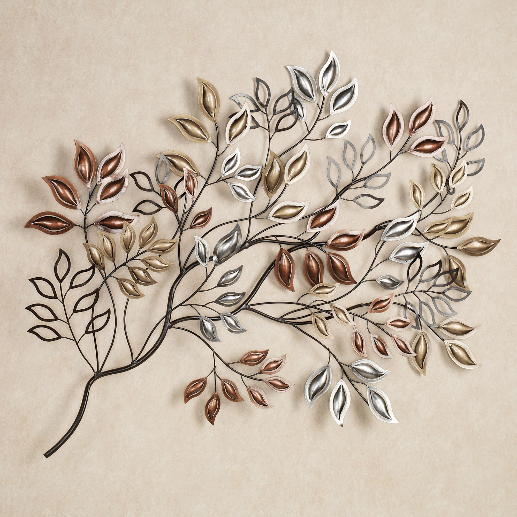 Leaves Metal Sculpture Wall Decor In Latest Golden Sunrise Leaves Metal Wall Sculpture (View 9 of 20)
