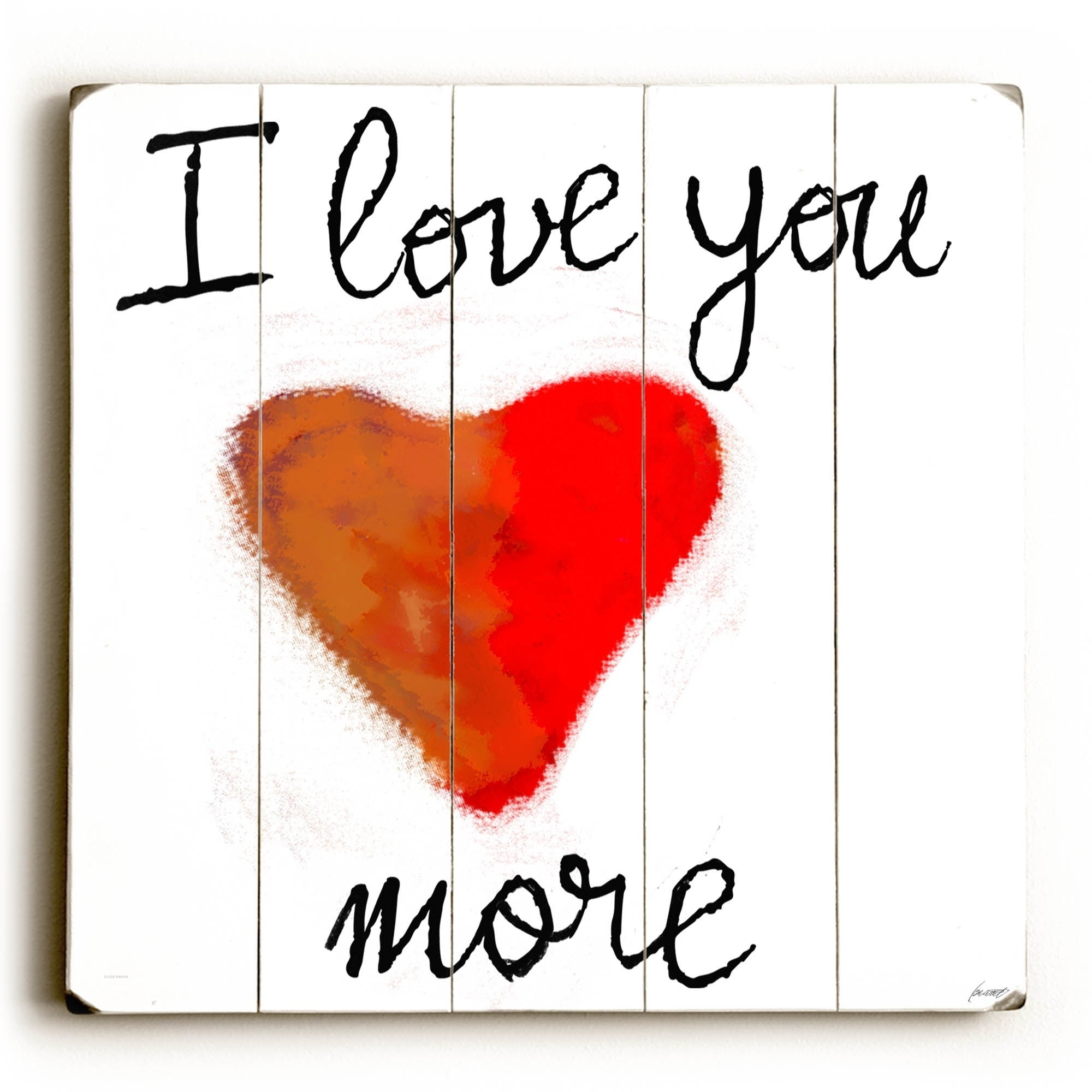 'love You More' Wood Wall Decor Pertaining To Famous Shop I Love You More – Planked Wood Wall Decorlisa Weedn – On (View 11 of 20)