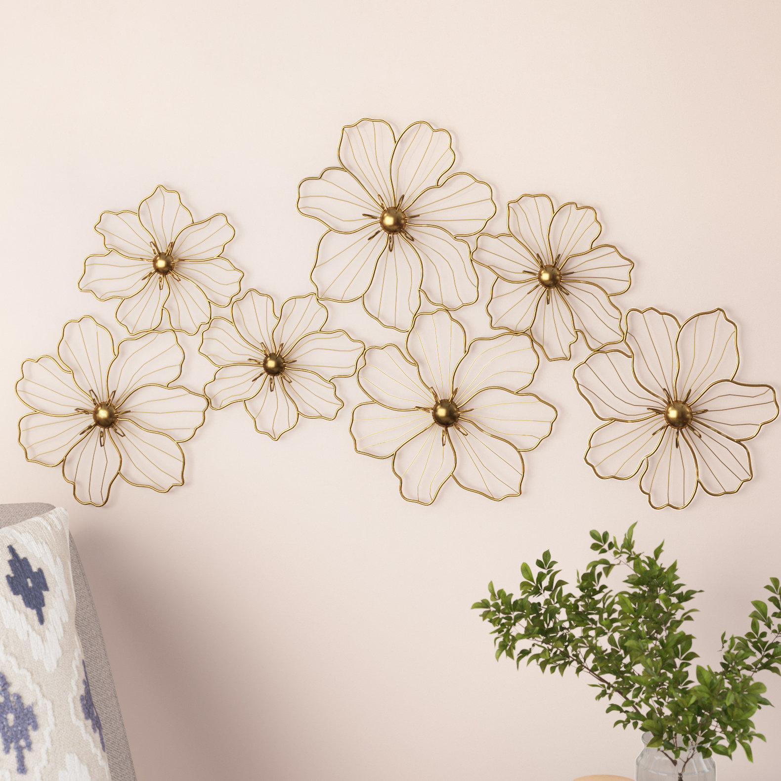 Mack & Milo Flowers Metal Wall Décor (View 5 of 20)