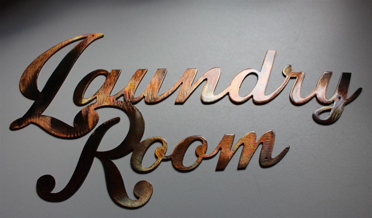 Metal Laundry Room Wall Decor With Regard To Most Popular Laundry Room Sign Metal Wall Art Decor Copper/bronze Plated (View 11 of 20)