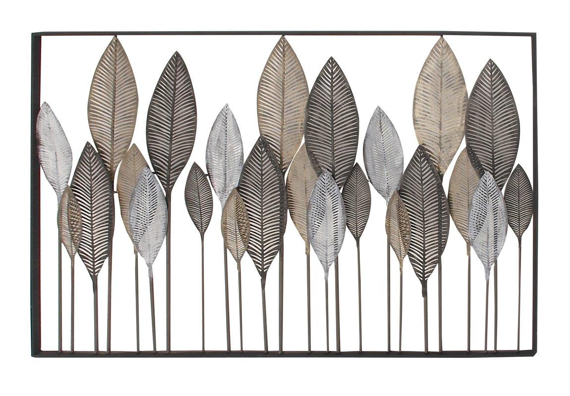 Metal Leaf Wall Decor By Red Barrel Studio Pertaining To Latest Metal Leaf Wall Decor – Pmpresssecretariat (Gallery 4 of 20)