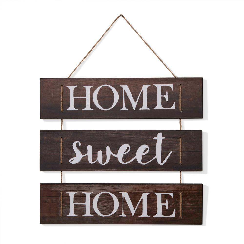 Metal Rope Wall Sign Wall Decor With Best And Newest Danya B Inspirational Home Sweet Home Wooden Wall Hanging Sign With (View 9 of 20)