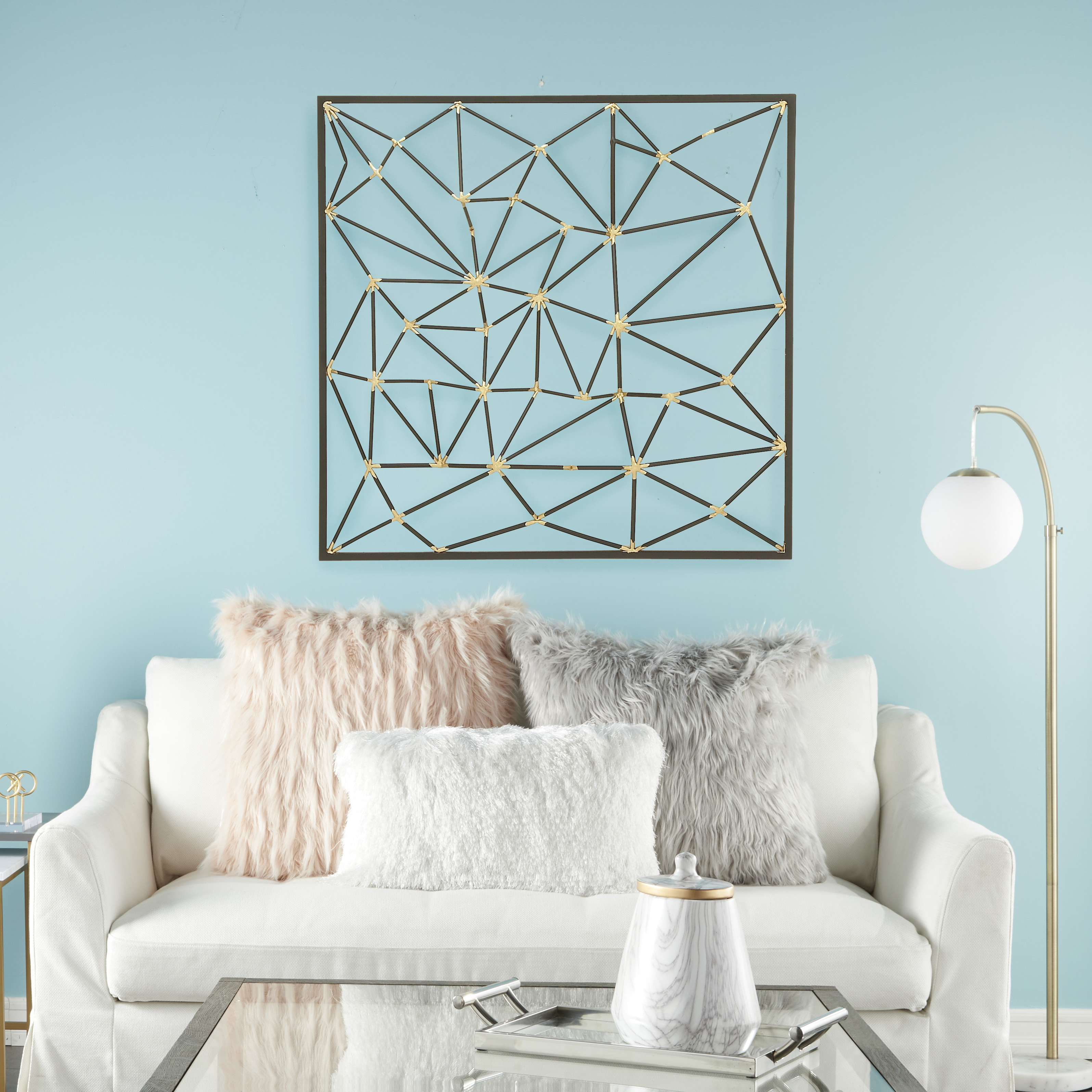 Metal Wall Decor By Cosmoliving With Well Known Cosmoliving Modern Style Large Square Abstract Art Metallic Gold (View 7 of 20)