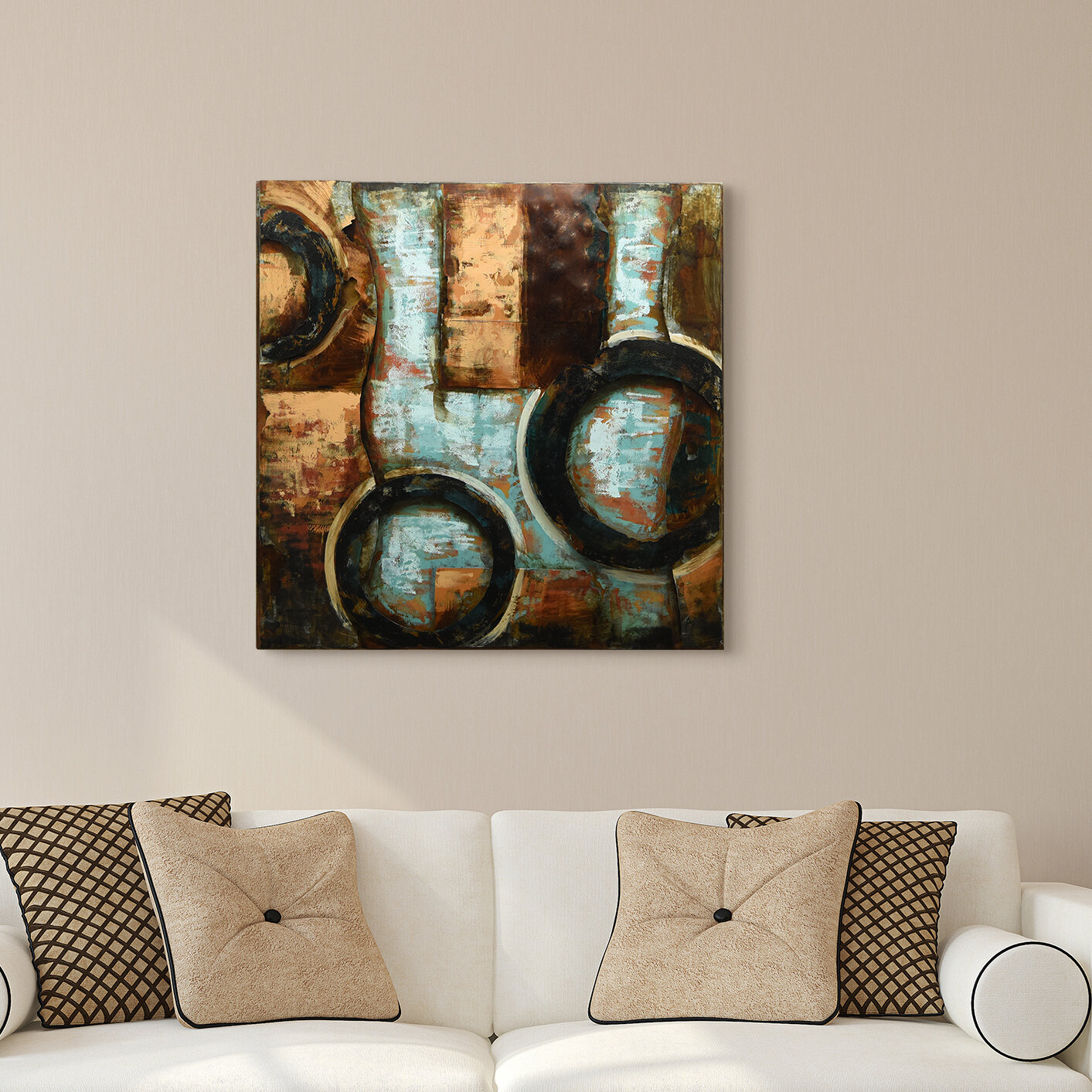 Featured Photo of Mixed Media Iron Hand Painted Dimensional Wall Decor