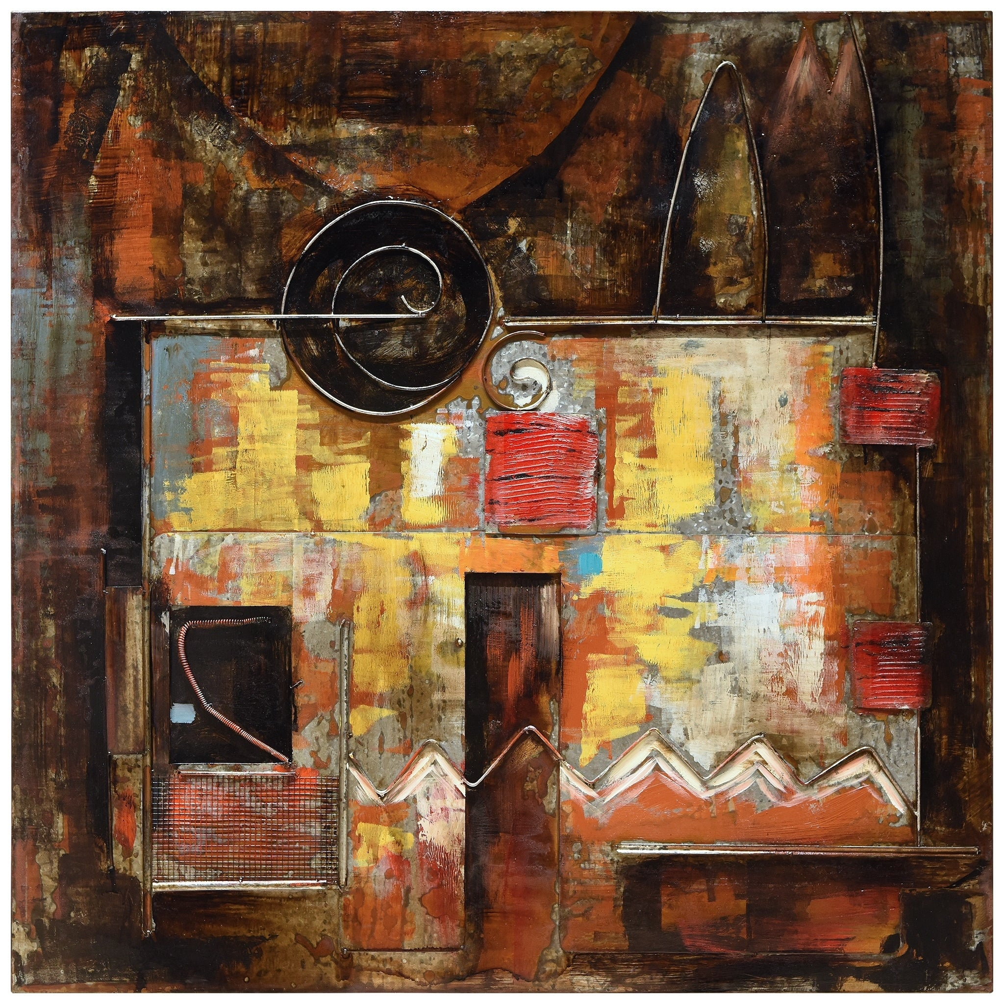 """Mixed Media Iron Hand Painted Dimensional Wall Decor Within Current Shop """"abstraction 1"""" Mixed Media Iron Hand Painted Dimensional Wall (View 11 of 20)"""