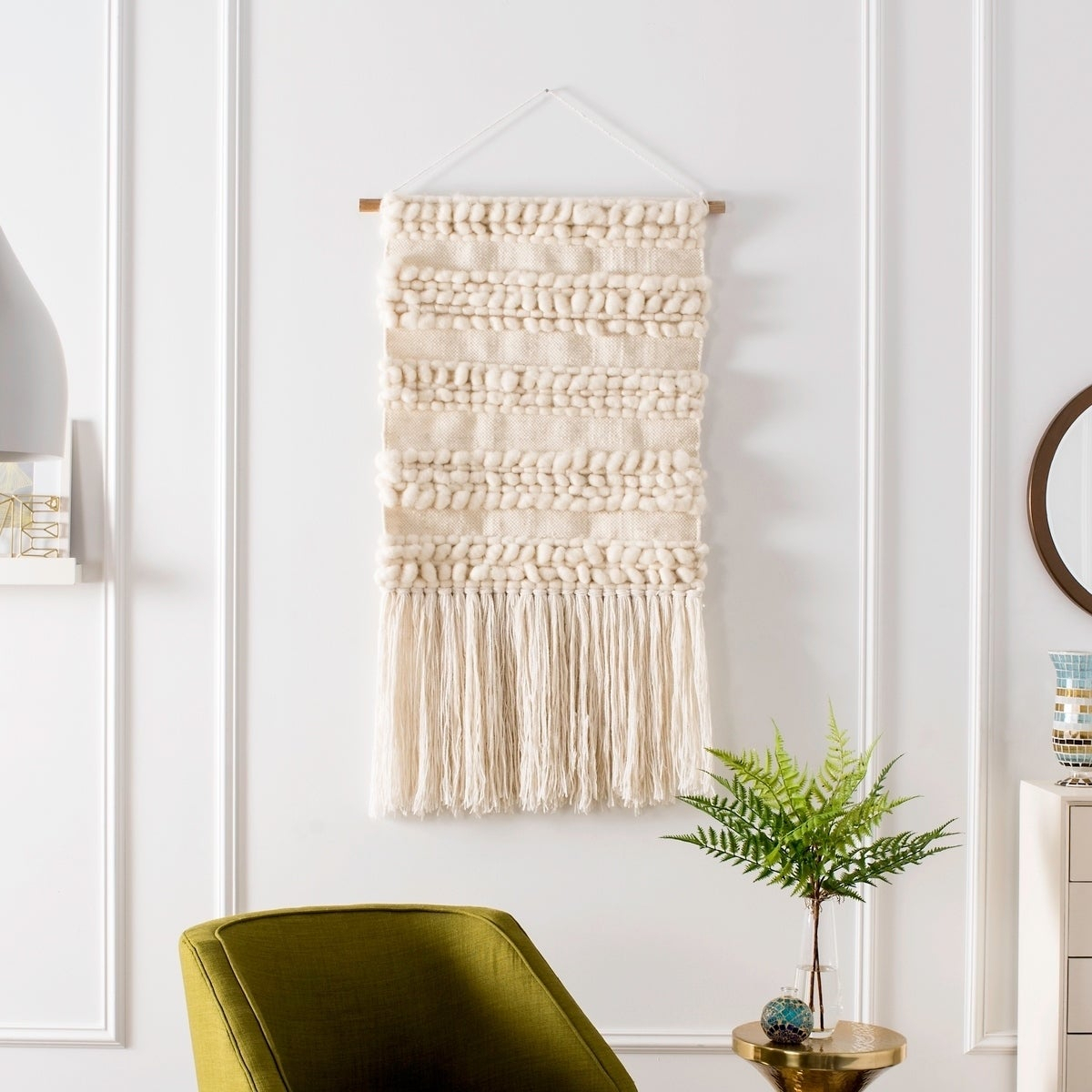 Most Current 4 Piece Handwoven Wheel Wall Decor Sets Regarding Shop Safavieh Sedona Hand Woven Wall Tapestry 101 – 2' X 2'4' – On (View 6 of 20)