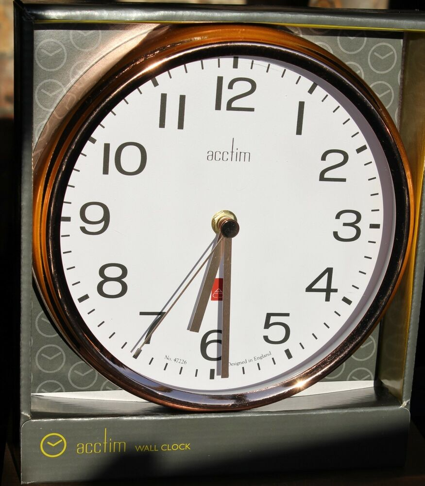 Most Current Acctim Alvis 20Cm Metal / Copper Wall Clock – Copper Fingers In Alvis Traditional Metal Wall Decor (View 11 of 20)