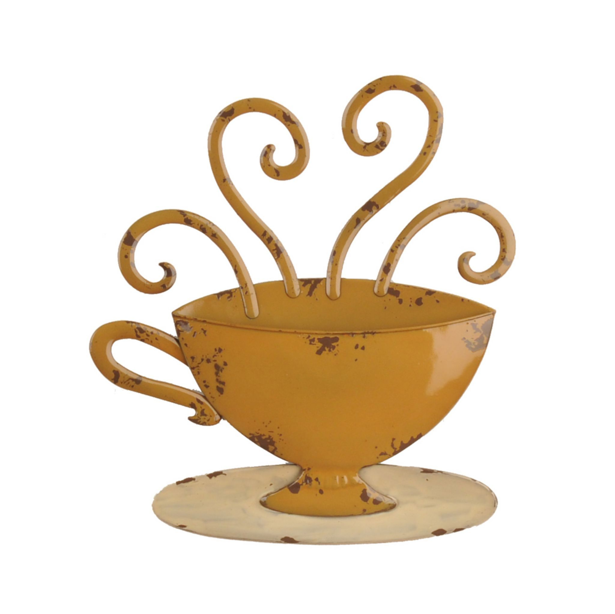 Most Current Decorative Three Stacked Coffee Tea Cups Iron Widget Wall Decor With Regard To Found It At Wayfair – Decorative Three Stacked Coffee Tea Cups Iron (View 6 of 20)