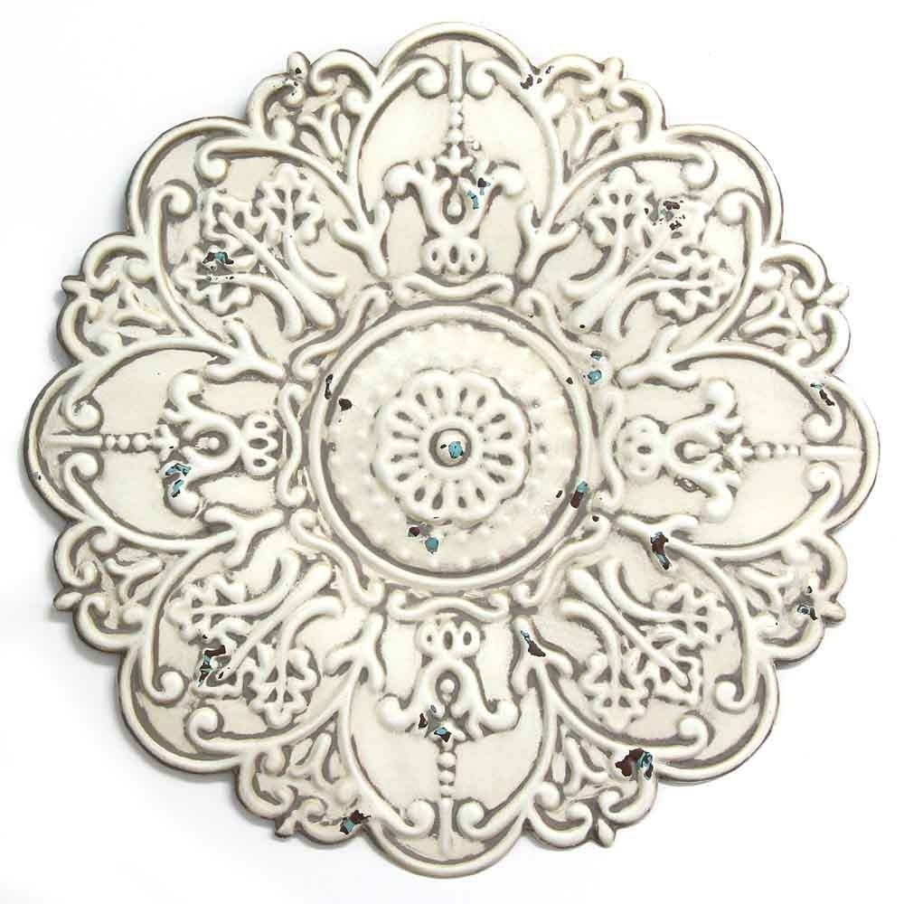 Most Current European Medallion Wall Decor With Regard To Shop Stratton Home Decor Small White Medallion Wall Decor – Free (View 19 of 20)