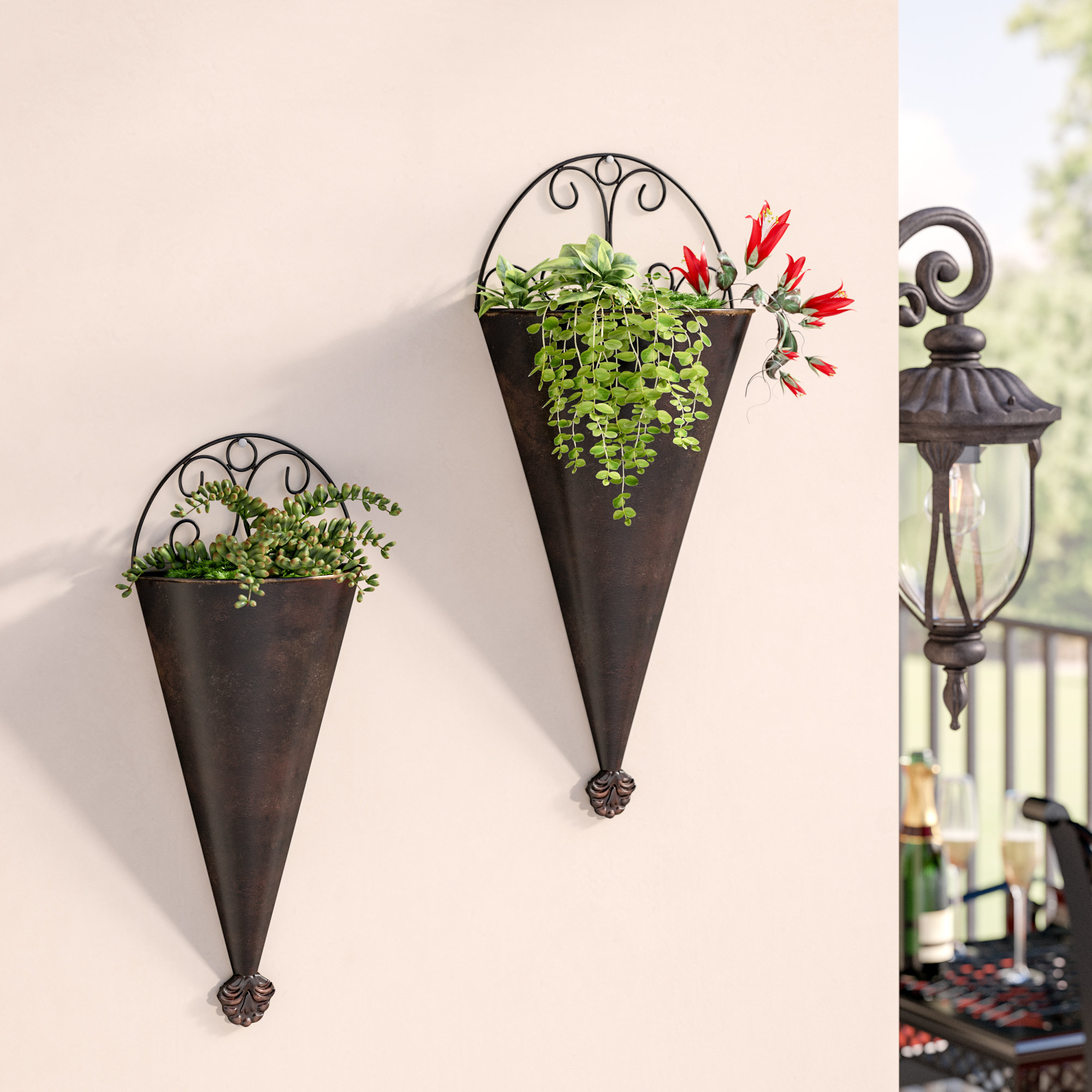 Most Current Fleur De Lis Living Cirebon Traditional 2 Piece Cone Metal Wall Intended For 2 Piece Metal Wall Decor Sets By Fleur De Lis Living (View 13 of 20)