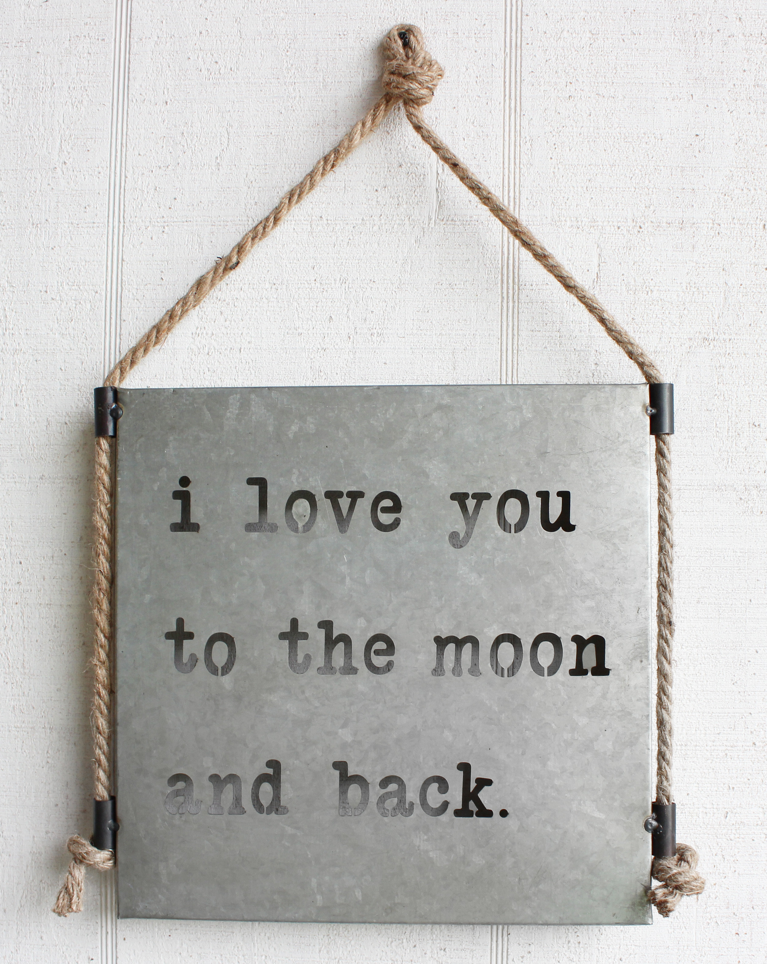 Most Current Gracie Oaks Moon And Back Sign Metal Wall Décor (View 10 of 20)