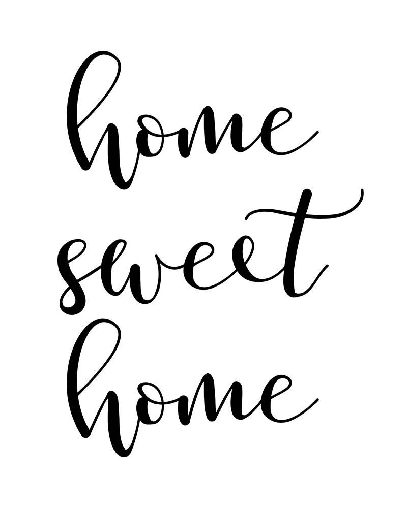 Most Current Laser Engraved Home Sweet Home Wall Decor Pertaining To Home Sweet Home, Printable Wall Art, Home Quote, Home Typography (View 6 of 20)