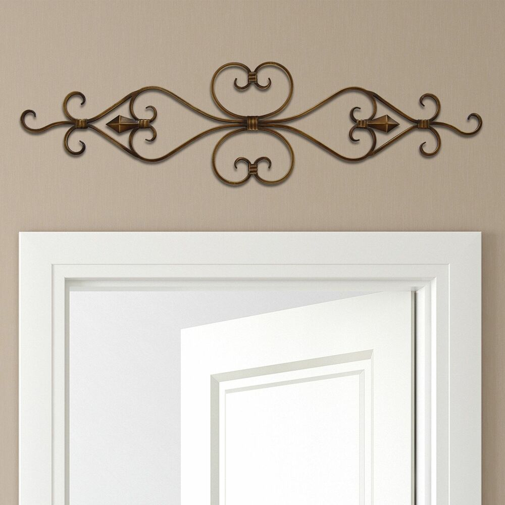 Most Current Ornamental Wood And Metal Scroll Wall Decor Within Stratton Home Decor Scroll Metal Wall Decor 36x10 New (View 13 of 20)