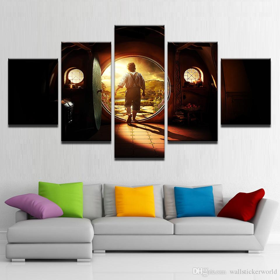 Most Current Rings Wall Decor For 2019 Canvas Pictures Home Decor Wall Art Lord Of The Rings Paintings (View 14 of 20)