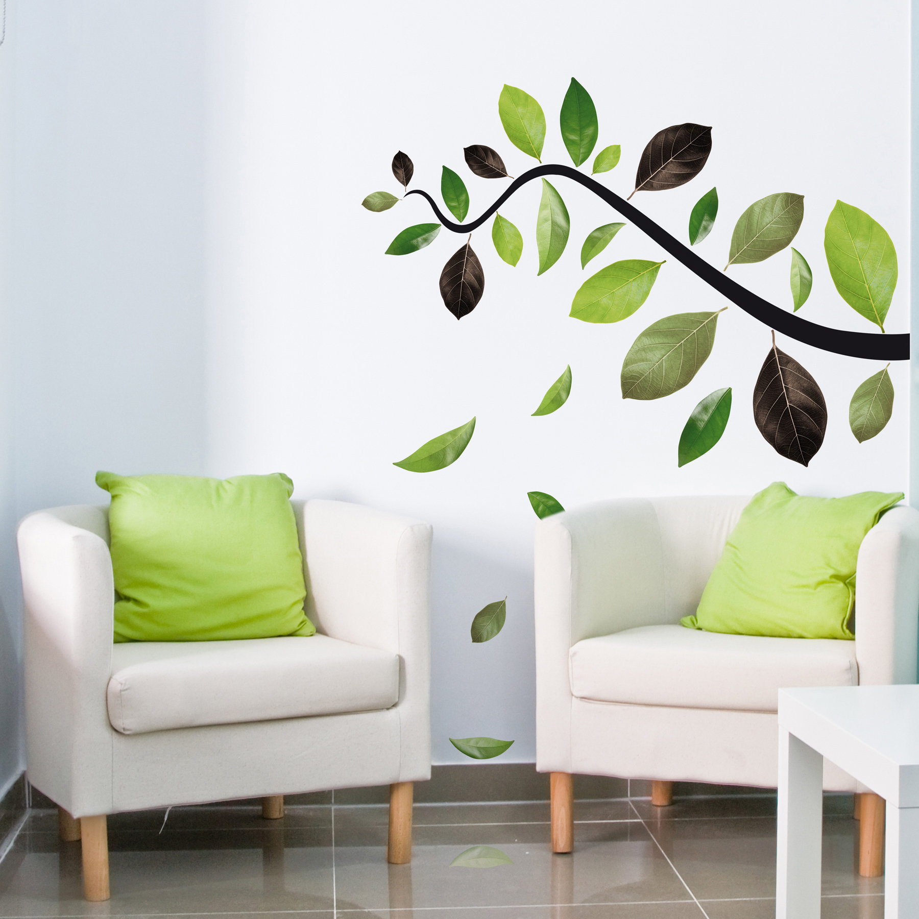 Most Current Wallpops! Home Decor Line Falling Leaves Wall Decal (View 9 of 20)