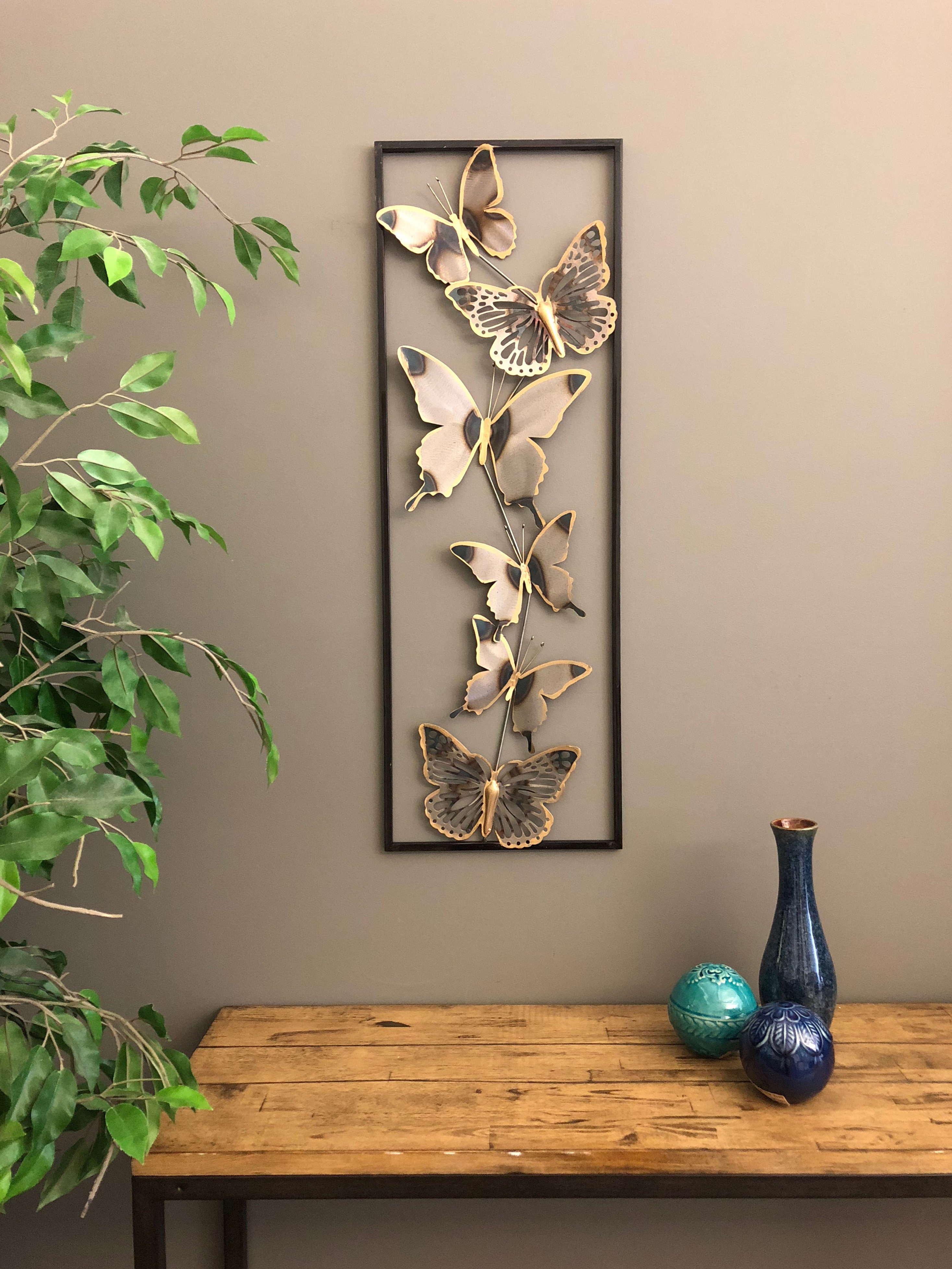 Most Current Winston Porter Metal 3 Dimensional Butterflies Wall Décor & Reviews With Metal Wall Decor By Winston Porter (View 10 of 20)