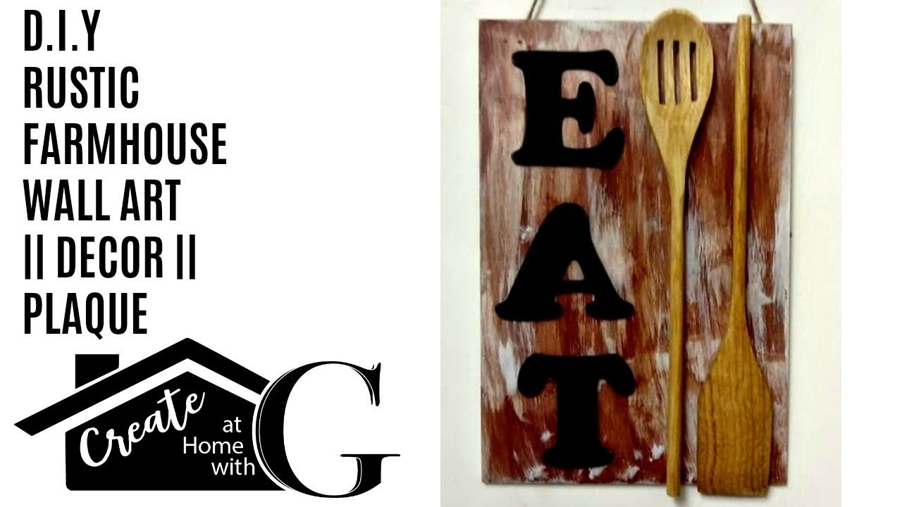 "Most Popular 1) Poundland Craft: Farmhouse ""eat"" Wall Art (View 19 of 20)"
