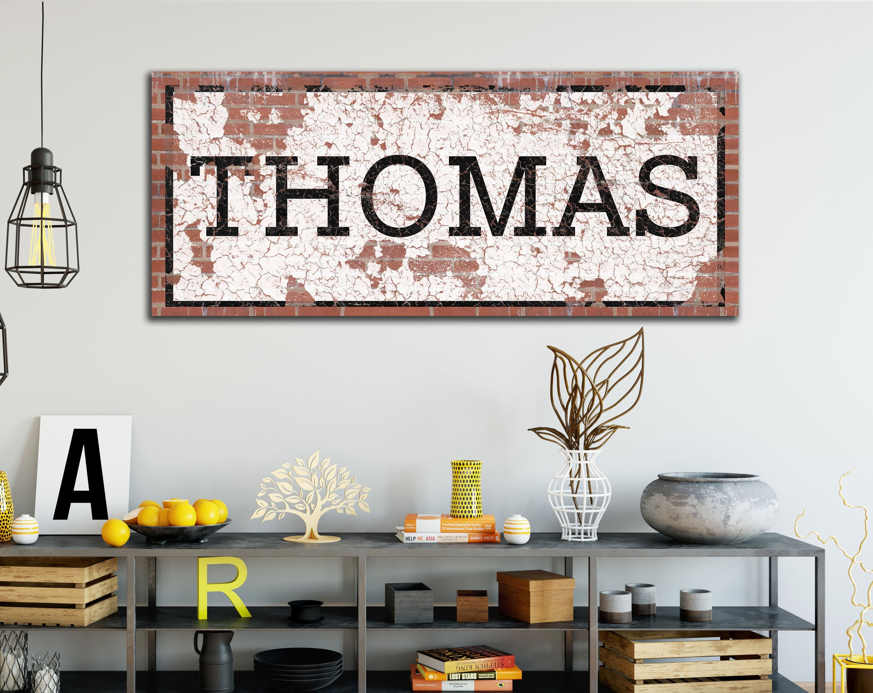 Most Popular Industrial Wall Decor Custom Last Name Art Vintage Style (View 11 of 20)