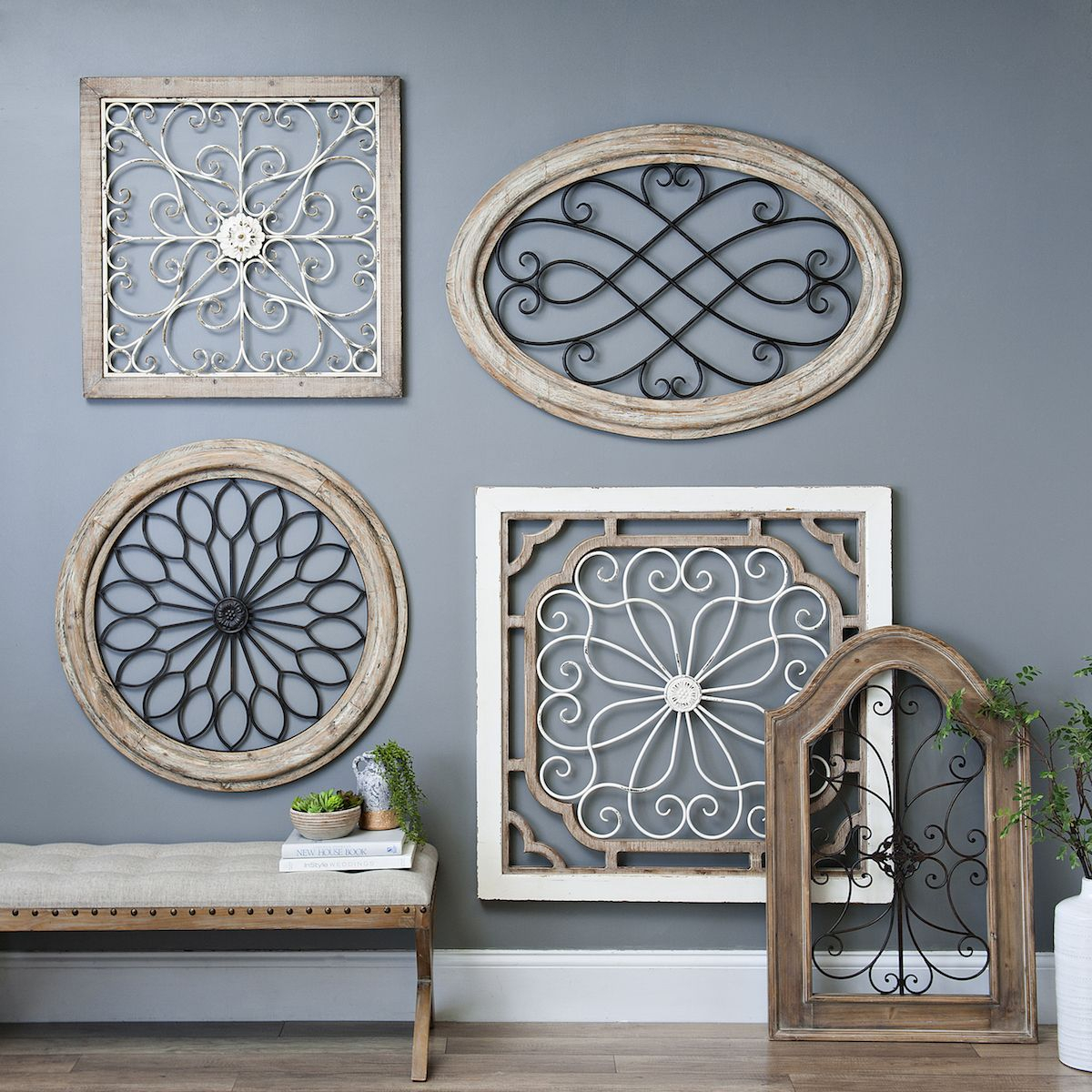 Most Popular Natural Arch Wood And Metal Wall Plaque (View 9 of 20)