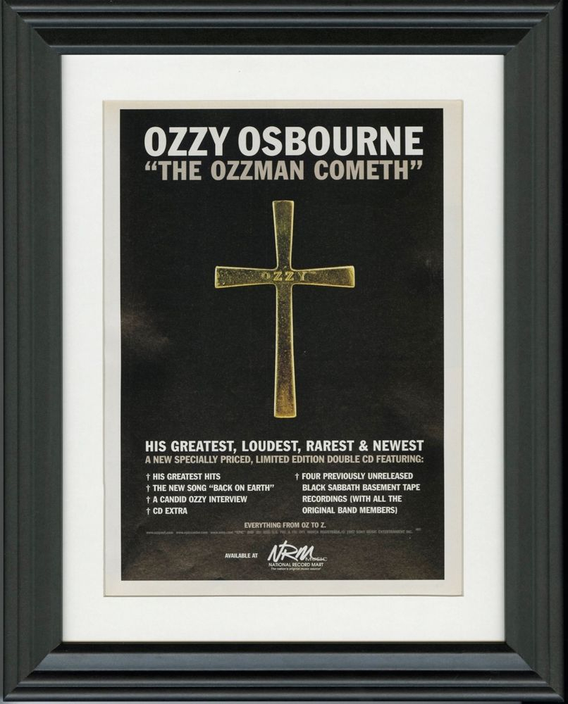 Most Popular Ozzy Osbourne ~ The Ozzman Cometh ~ Framed Music Release Promo Print Inside Osbourne Wall Decor (View 7 of 20)