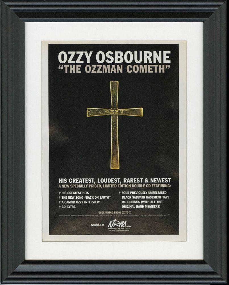 Most Popular Ozzy Osbourne ~ The Ozzman Cometh ~ Framed Music Release Promo Print Inside Osbourne Wall Decor (View 7 of 20)
