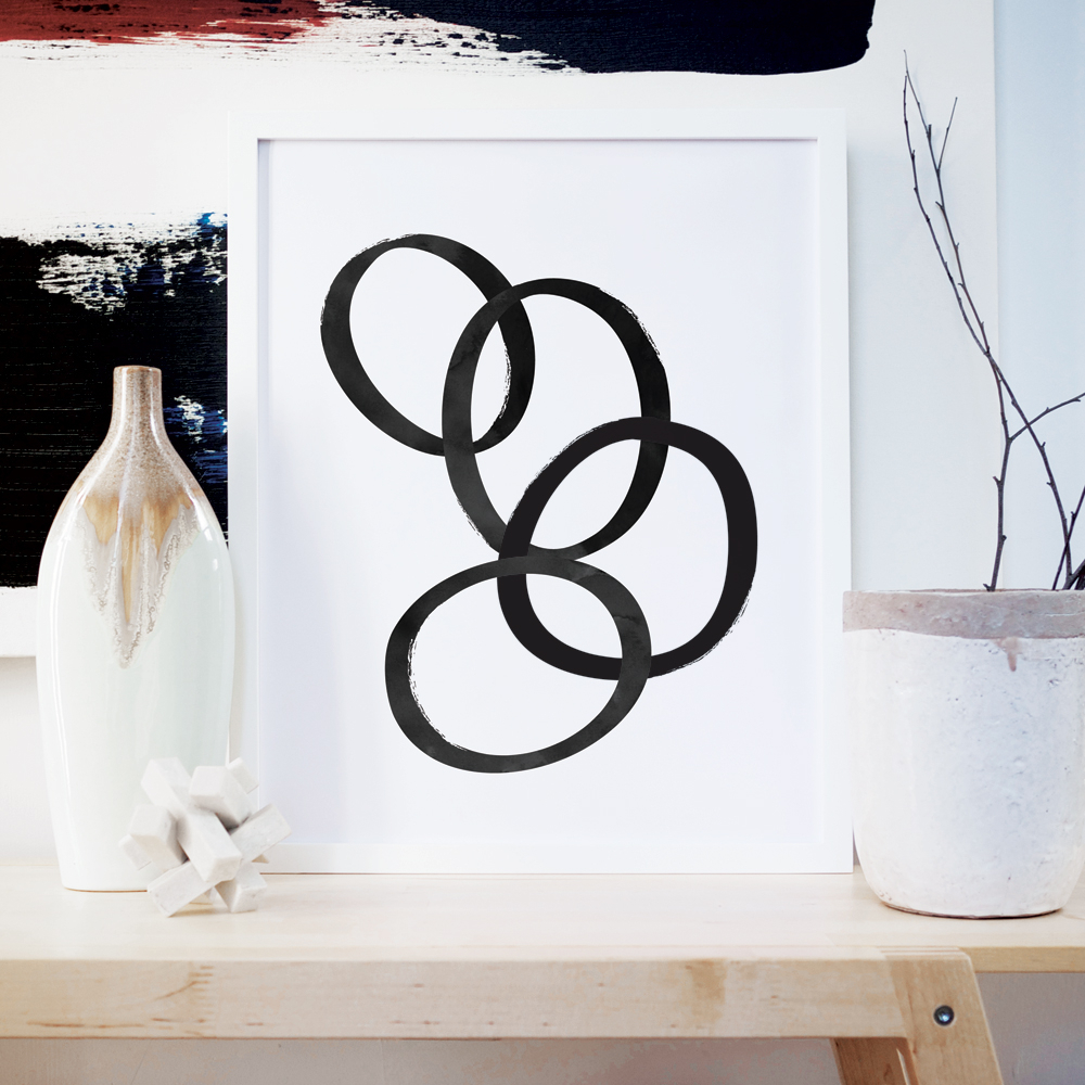 Most Popular Rings Wall Art – Shop Abstract Home Décor Regarding Rings Wall Decor (View 8 of 20)