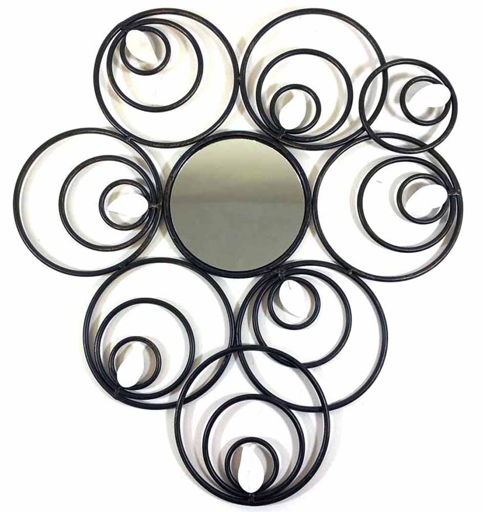 Most Recent Belle Circular Scroll Wall Decor Inside Metal Wall Art – Abstract Circle Disc Mirror (View 15 of 20)