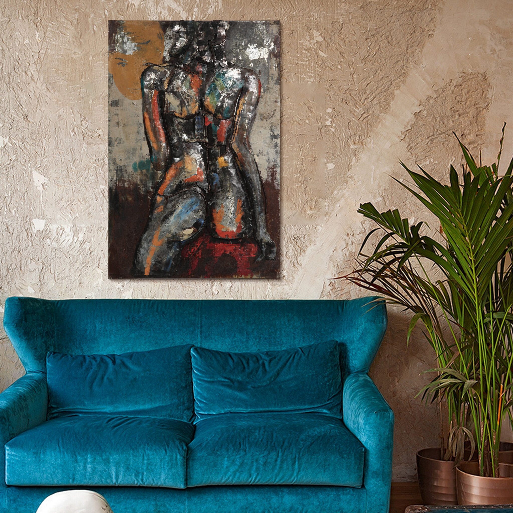 """Most Recent """"bridge To The City"""" Mixed Media Iron Hand Painted Dimensional Wall Decor For Empire Art Direct """"nude Study 1"""" Mixed Media Iron Hand Painted (View 10 of 20)"""