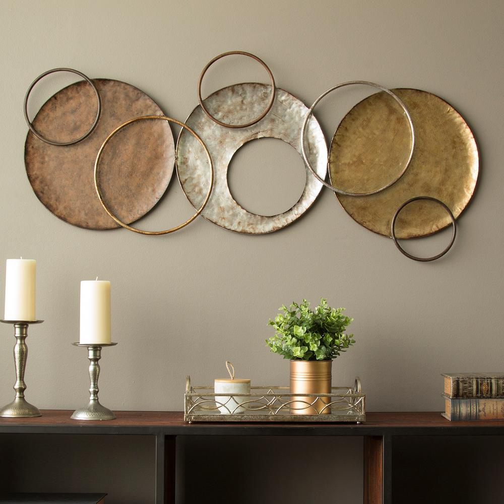 Most Recent Stratton Home Decor Knoxville Metal Wall Decor S09558 – The Home Depot With 4 Piece Metal Wall Decor Sets (View 9 of 20)