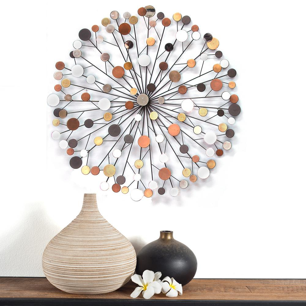 Most Recent Vase And Bowl Wall Decor Intended For Stratton Home Decor Stratton Home Decor Multi Colored Starburst Wall (View 8 of 20)