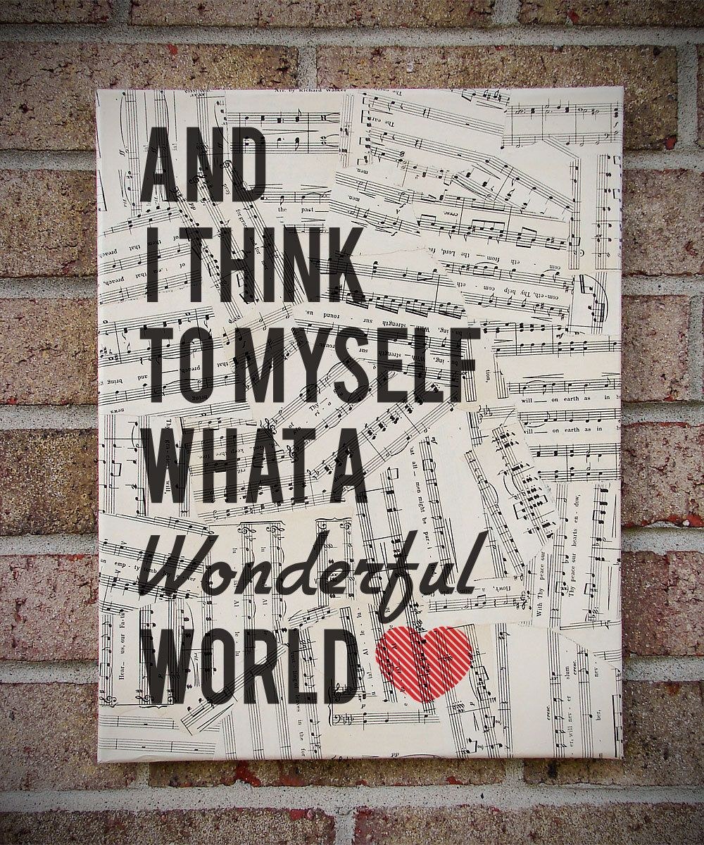 Most Recent Wonderful World Wall Decor Throughout What A Wonderful World Wooden Wall Art, Louis Armstrong Song Lyric (View 16 of 20)