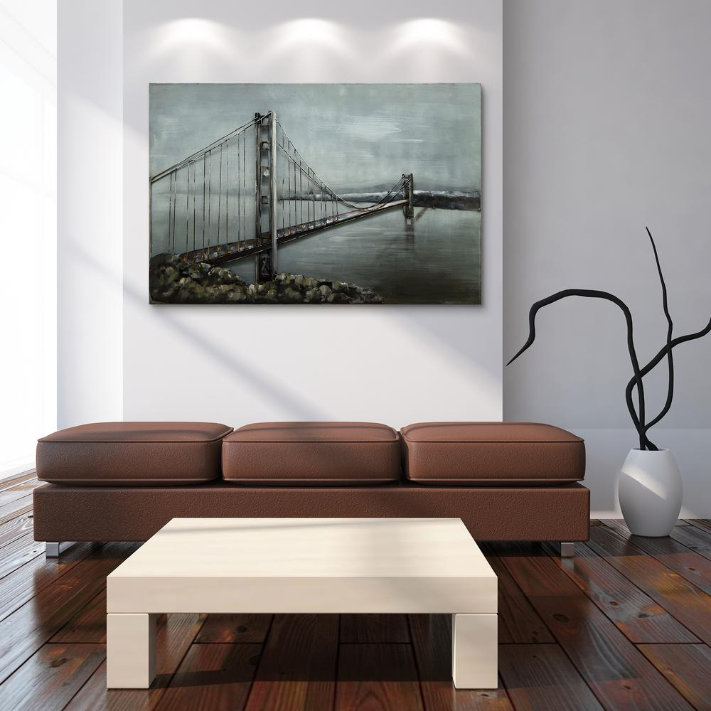 """Most Recently Released Bridge"""" Mixed Media Iron Hand Painted Dimensional Wall Decor Pmo Intended For Mixed Media Iron Hand Painted Dimensional Wall Decor (View 14 of 20)"""