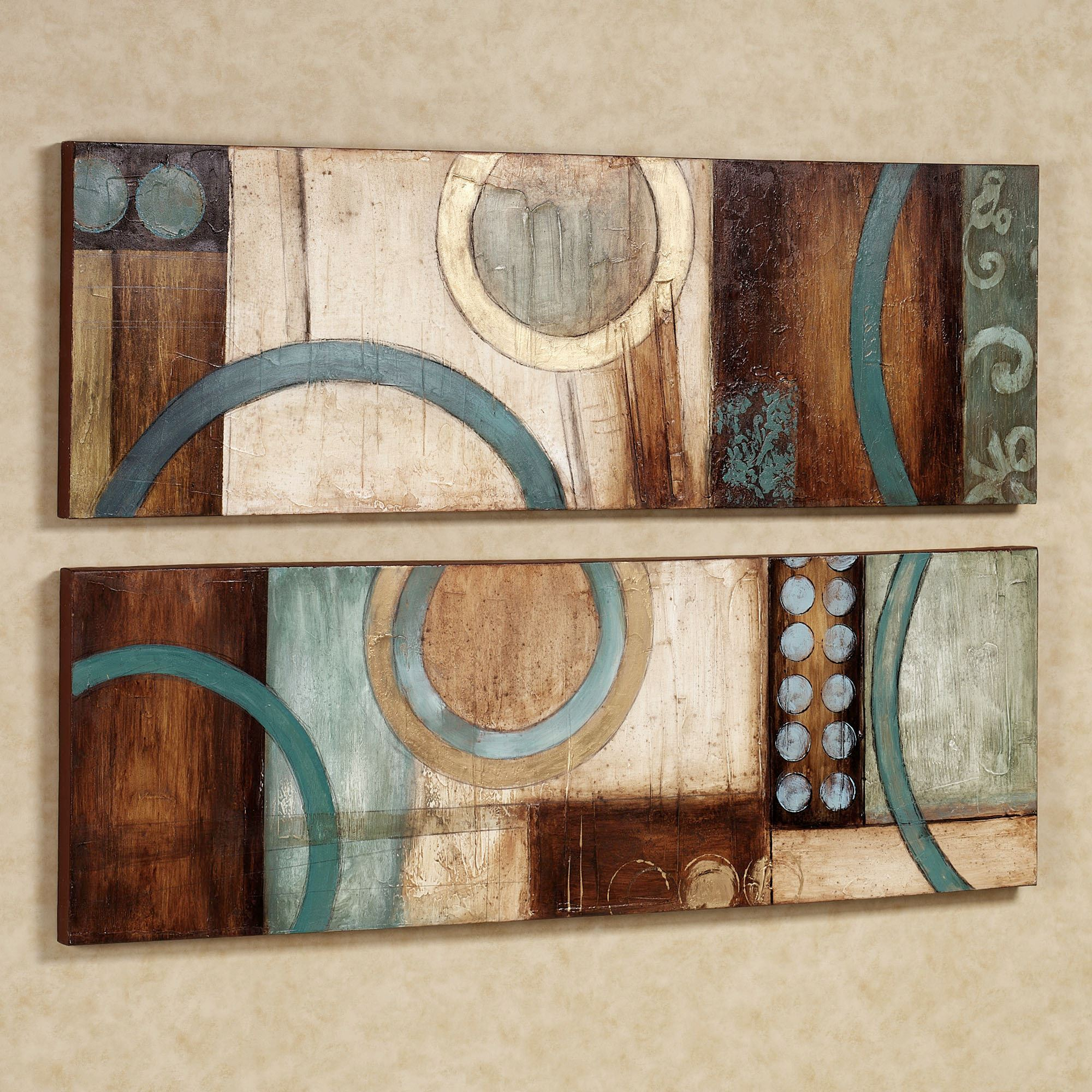 Most Recently Released Contemporary Abstract Round Wall Decor Pertaining To Lavare Canvas Wall Art Set (View 15 of 20)