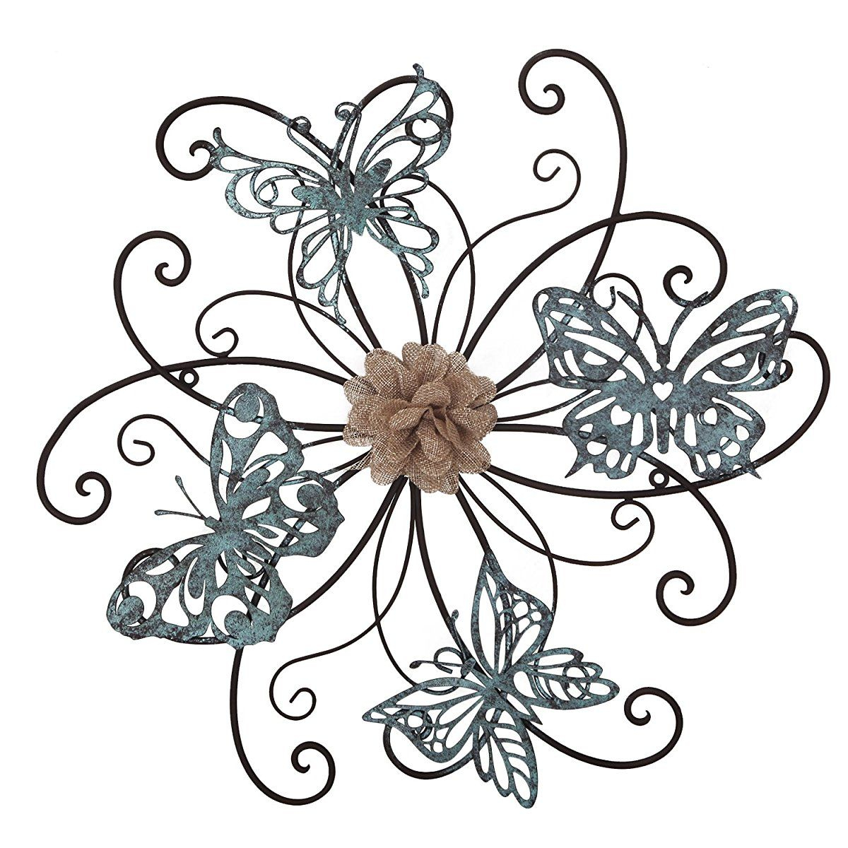 Most Recently Released Homes Art Flower And Butterfly Urban Design Metal Wall Decor For Inside Flower And Butterfly Urban Design Metal Wall Decor (View 3 of 20)