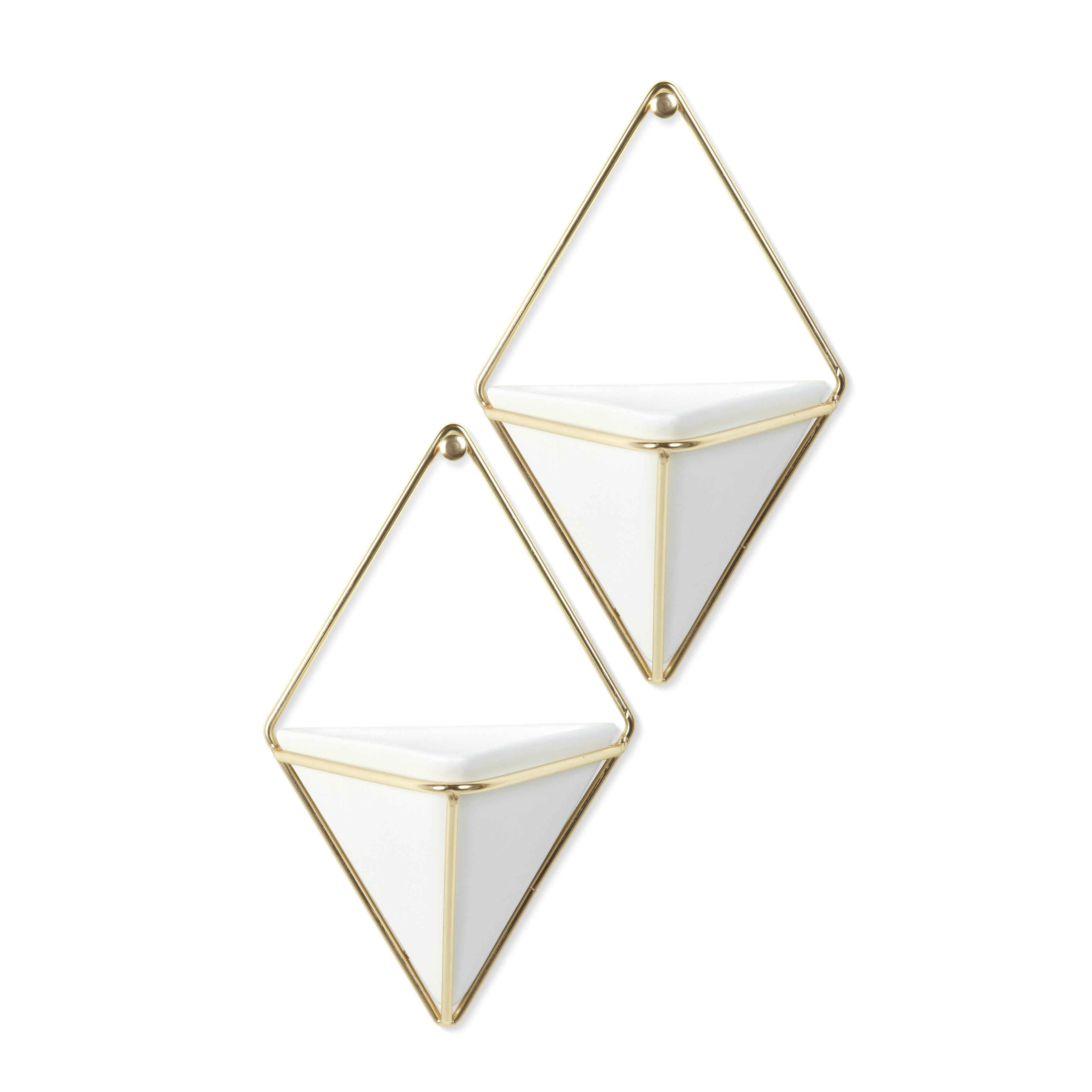 Most Up To Date 2 Piece Trigg Wall Decor Sets (Set Of 2) Pertaining To Shop Umbra Trigg Hanging Planter & Wall Decor (Set Of 2) – Free (View 10 of 20)