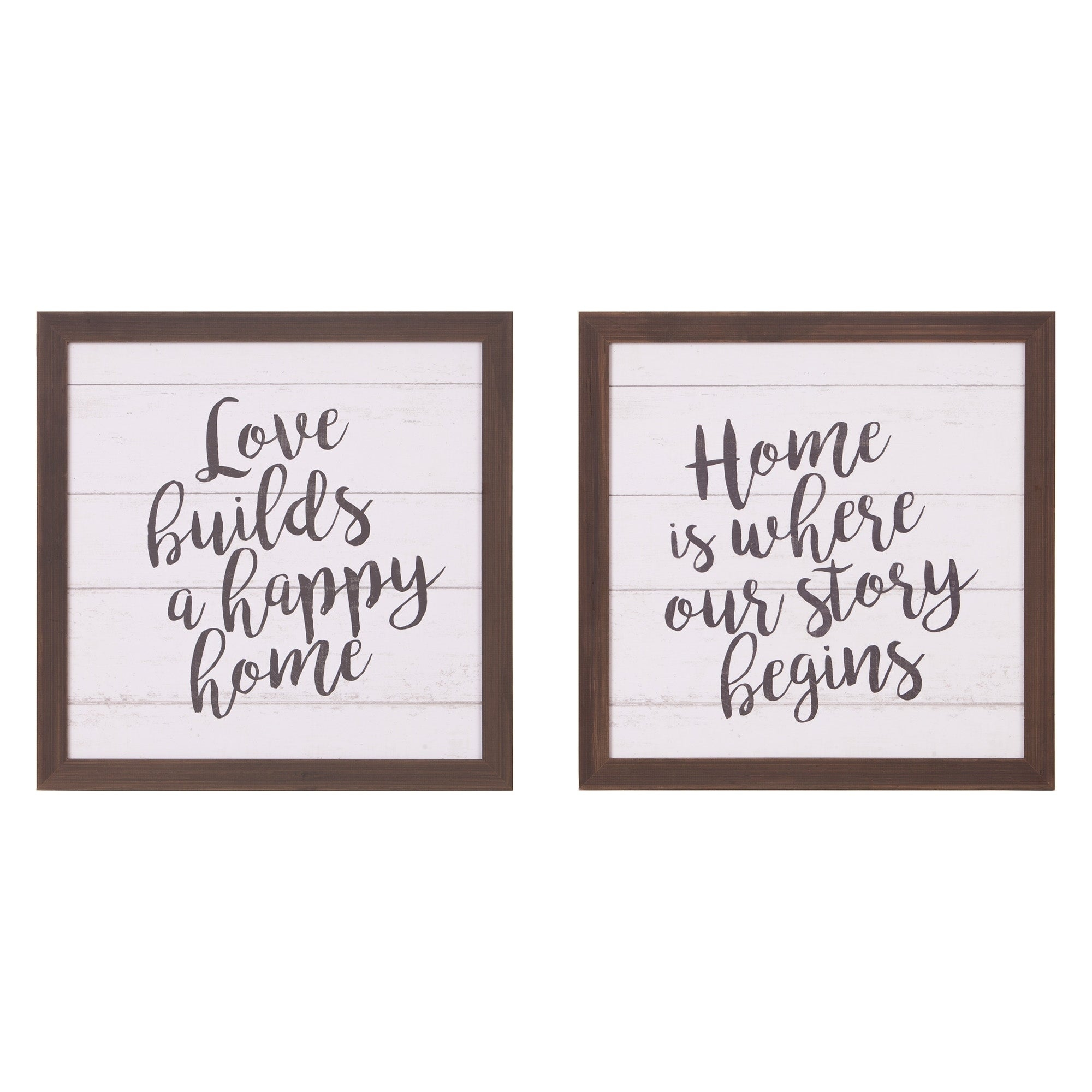 Most Up To Date 3 Piece Wash, Brush, Comb Wall Decor Sets (Set Of 3) Throughout Shop Patton Wall Decor Happy Home Wood Plank Wall Art Decor, Set Of (View 14 of 20)
