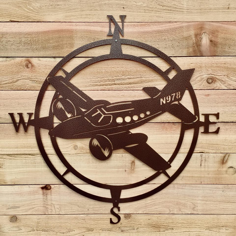 Most Up To Date Outdoor Metal Wall Compass Within Airplane Compass Wall Art, Aviation Metal Wall Art, Aviation Outdoor (View 10 of 20)