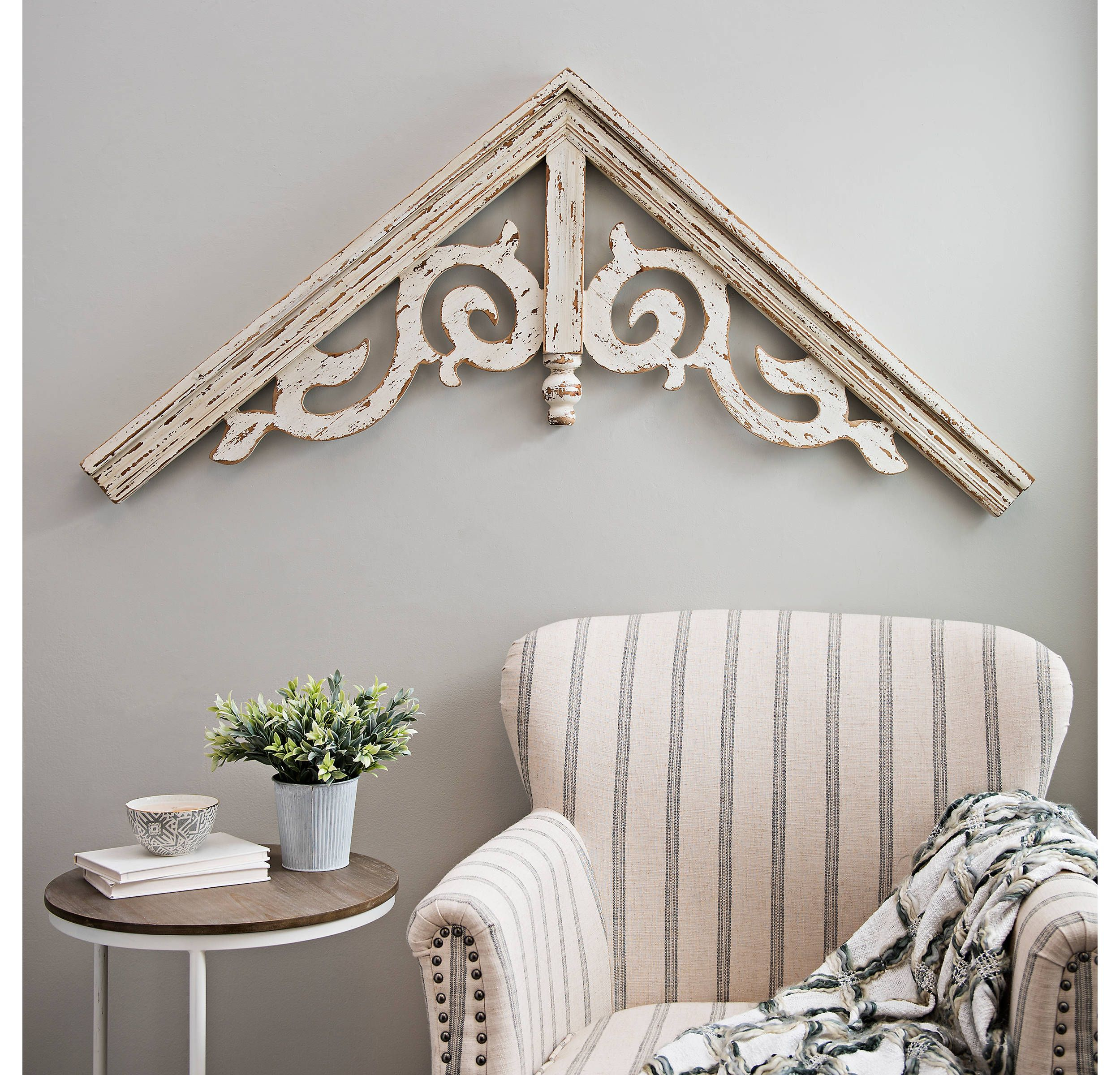 Most Up To Date Product Details Corbel Antique White Ornate Scroll Arched Plaque In Intended For Ornate Scroll Wall Decor (View 4 of 20)