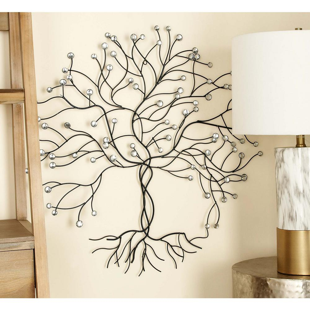 Most Up To Date Tree Wall Decor Throughout Litton Lane 27 In. X 27 In (View 18 of 20)