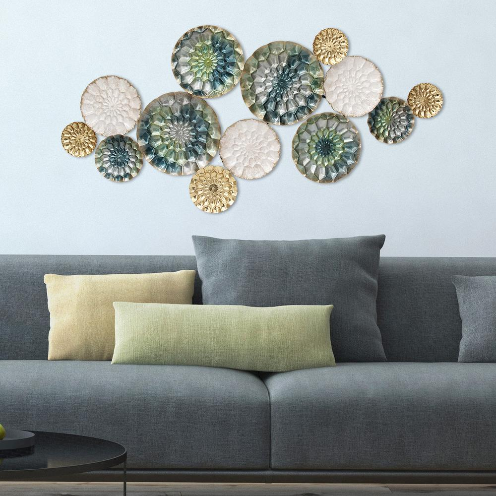 Multi Plates Wall Decor Pertaining To Fashionable Stratton Home Decor Santorini Metal Wall Decor S07661 – The Home Depot (View 3 of 20)