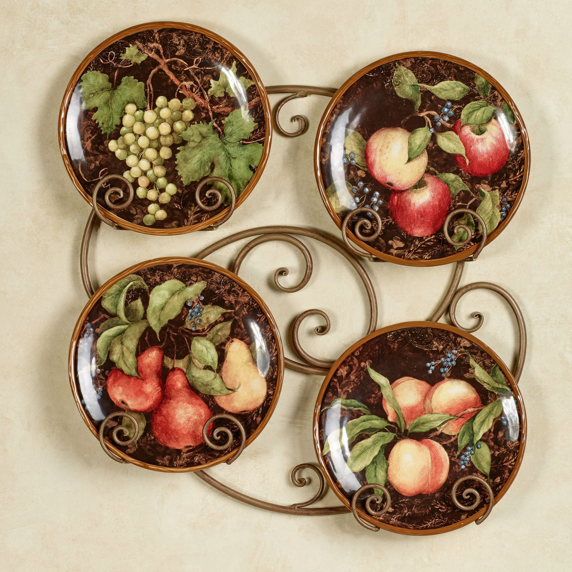 Multi Plates Wall Decor With Regard To Well Known Capri Fruit Dessert Plate Set (View 15 of 20)