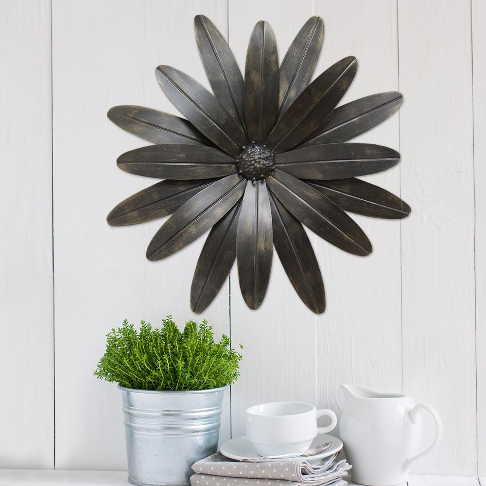Newest 3 Piece Ceramic Flowers Wall Decor Sets For Stratton Home Decor Industrial Flower Metal Wall Decor S07701 – The (Gallery 10 of 20)