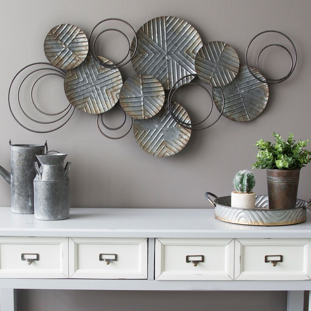 Newest Alvis Traditional Metal Wall Decor With Stratton Home Decor Galvanized Metal Wall Decor (Gallery 2 of 20)