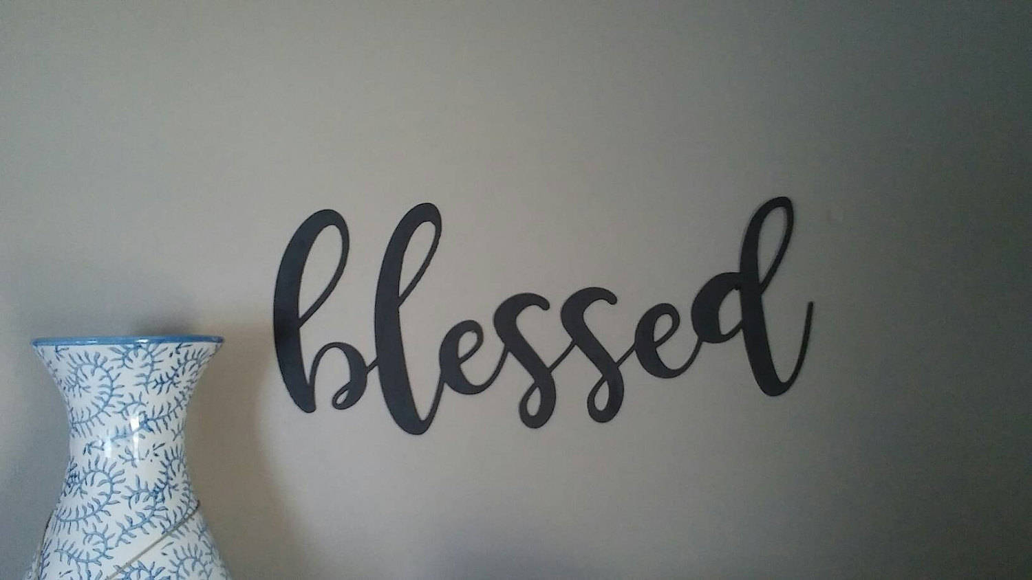 Newest Blessed Steel Wall Decor intended for Small Blessed Word Wall Decor Blessed Wall Decor Blessed