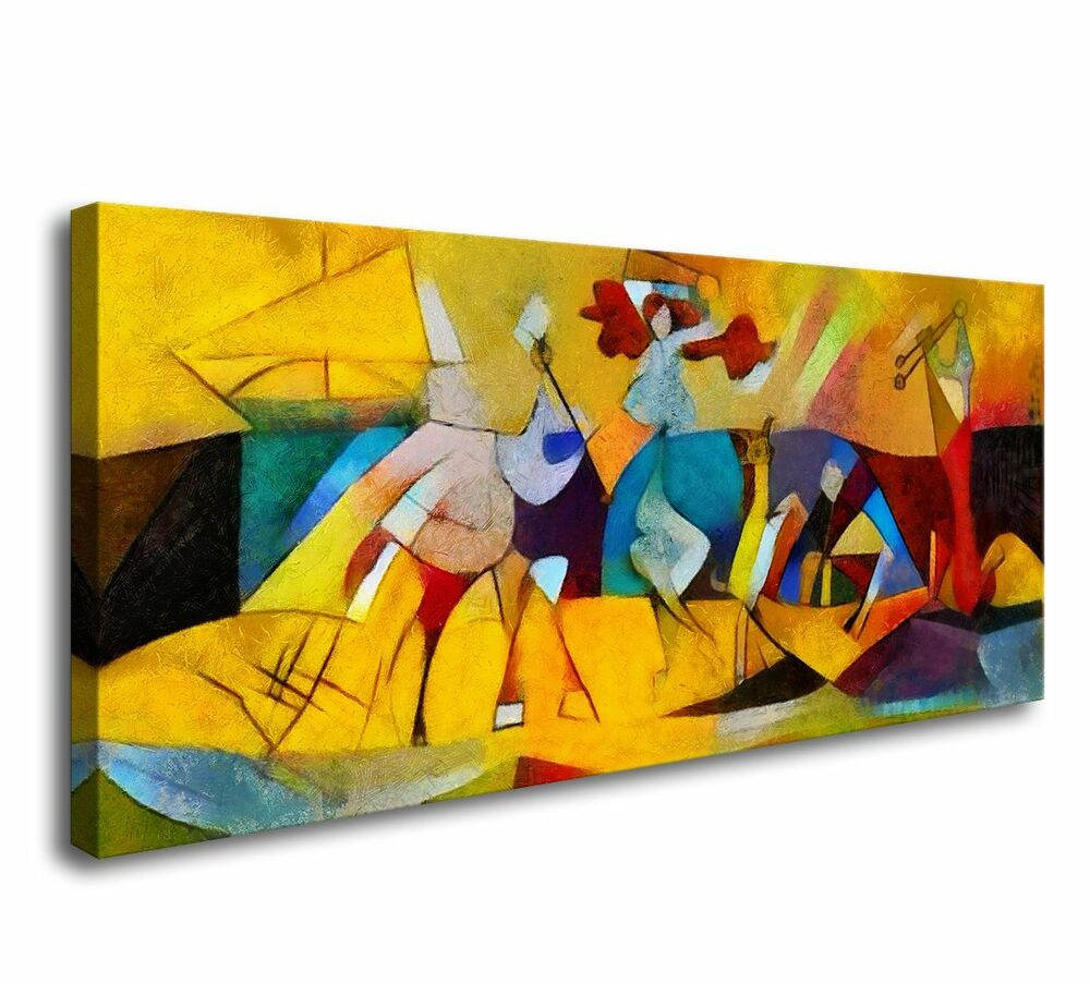 Newest Canvas Wall Framed Wall Art Abstract Paintings Art Print Painting For Abstract Bar And Panel Wall Decor (View 16 of 20)