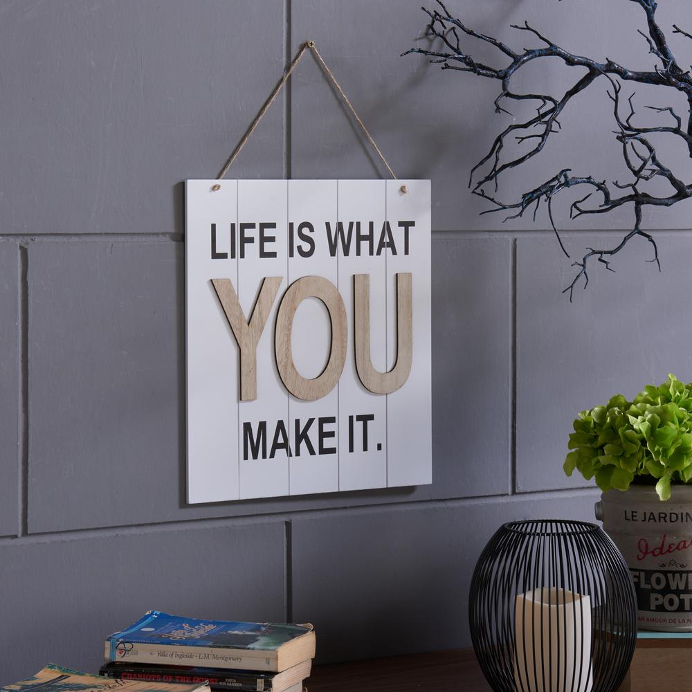 Newest Faith, Hope, Love Raised Sign Wall Decor In Danya B Inspirational Life Is What You Make It Wooden Wall Plaque (Gallery 18 of 20)