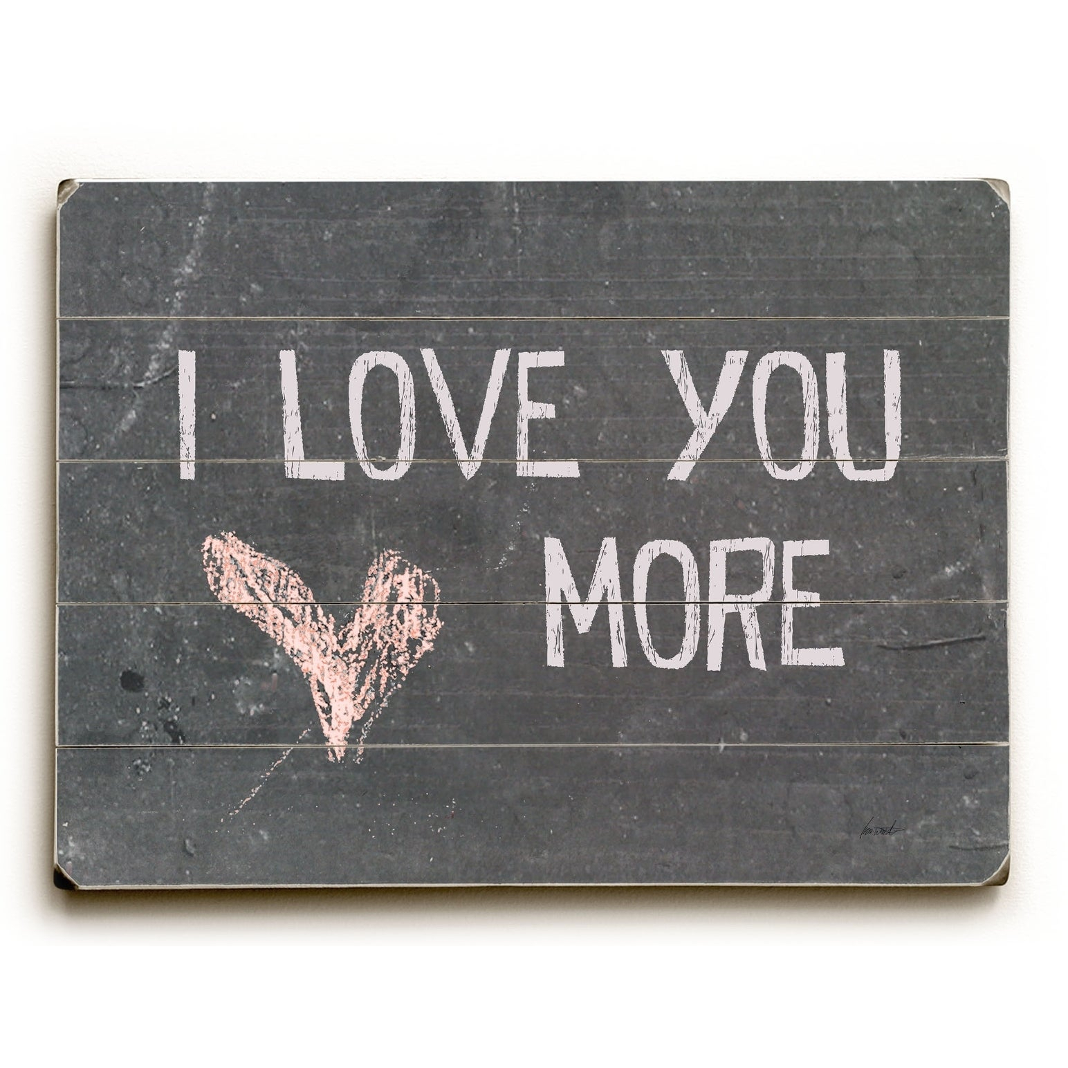 Newest 'love You More' Wood Wall Decor Inside Shop I Love You More – 9X12 Solid Wood Wall Decorlisa Weedn –  (View 15 of 20)