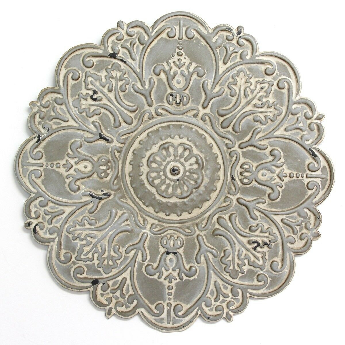 Newest Stratton Home Decor S11565 Small Medallion Wall Decor Grey Inside Small Medallion Wall Decor (Gallery 2 of 20)