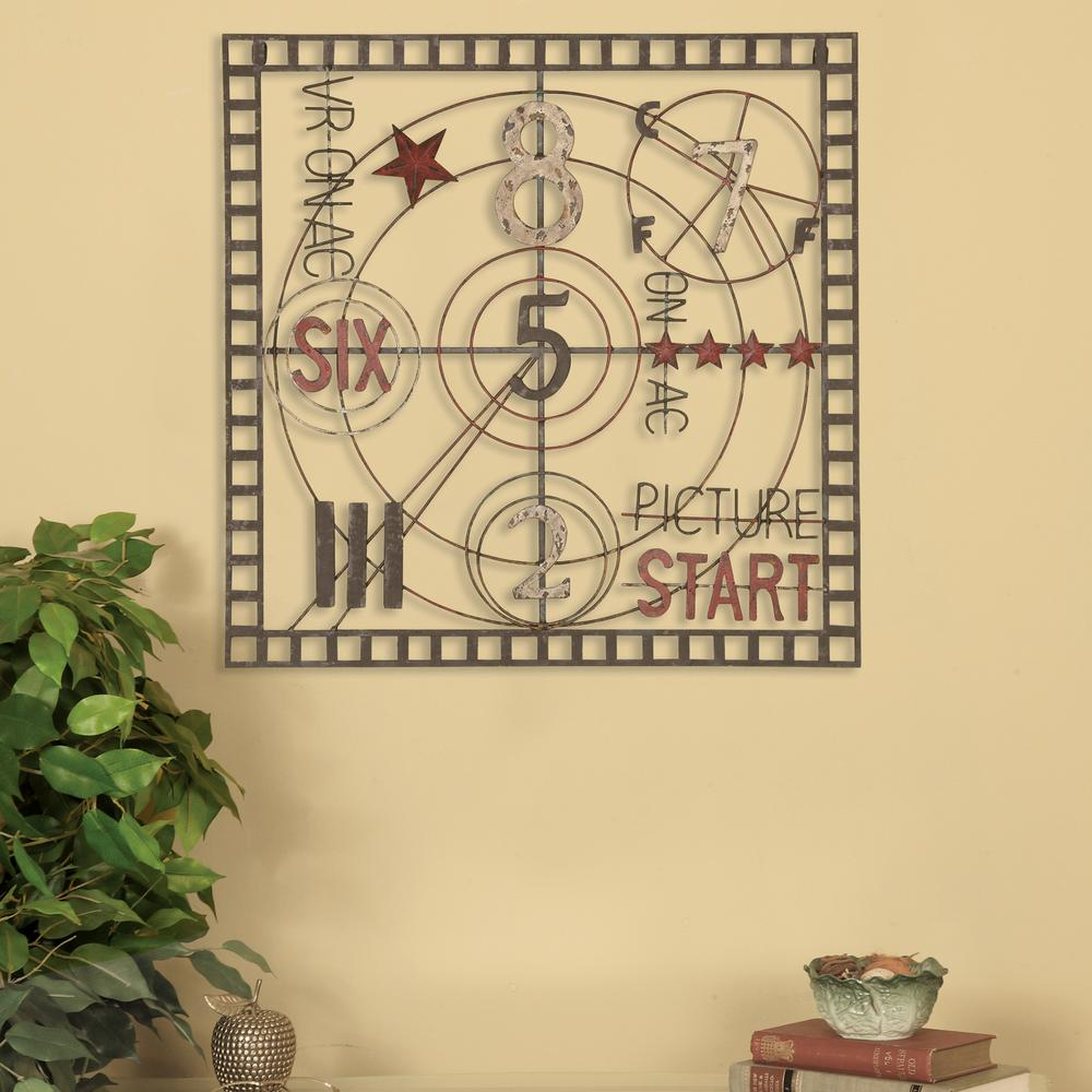 Oil Rubbed Metal Wall Decor Inside Favorite Oil Rubbed Bronze Old Time Projection Metal Work Wall Decor  (View 12 of 20)